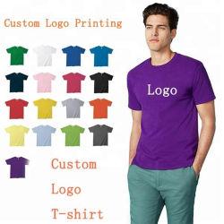 Le magliette normali in bianco su ordinazione del cotone, camicia di T di stampa, uomini all'ingrosso hanno stampato le magliette