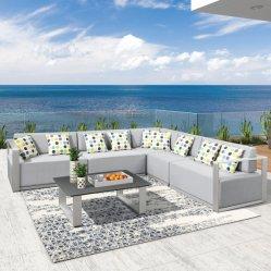 贅沢なプールの家具浜表が付いている屋外モジュラーファブリックソファーの家具