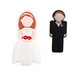 Cadeau de mariage Nouveauté Cartoon mariée disque USB Epoux Pendrive