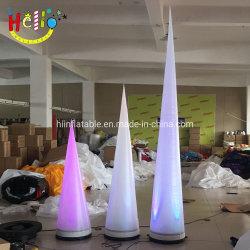 Nouveau Stade de l'éclairage LED gonflable Parti Décoration de cône