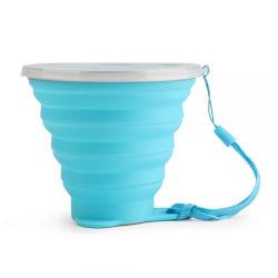 高容量のプラスチックシリコーン折りたたみ旅行キャンプのコップ