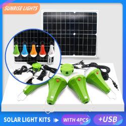 Panneau solaire Powered Ampoule de LED Lampe feu de camp portable tente crochet extérieur de la pêche