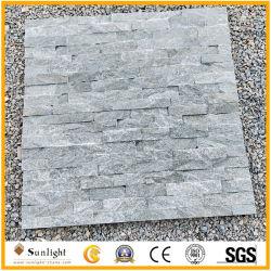 Commerce de gros gris foncé en ardoise naturelle de la culture pour les murs de pierre Clading