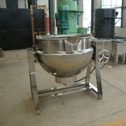 Питание санитарных из нержавеющей стали типа наклона паровой котел для приготовления пищи