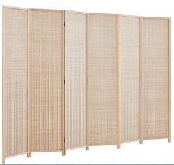 Бамбук соткать складной номер делитель декоративного экрана естественные цвета