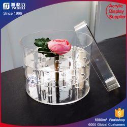 Conserva el cuadro de flores frescas en la Plaza de acrílico Contenedor de flores