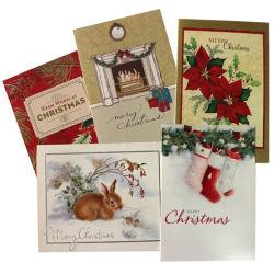 Custom Рождеством поздравительные открытки и конверты печать услуги