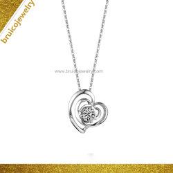 Le zircon bijoux de mode femmes 14K plaqué or Bijoux Colliers avec le coeur de la conception de diamant