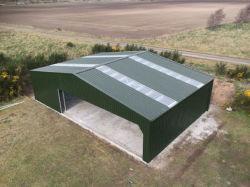 El reempleo de almacenamiento de la estructura de acero hecha de metal ovejas vivienda Plan granero