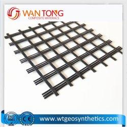 二軸60knか開口25mm*25mm/Highベアリング容量のガラス繊維Geogrid