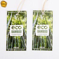 Sinicline Eco versieht freundlicher Bambusfaser-Papier-Fall Kleid-Zubehör mit Warnschild