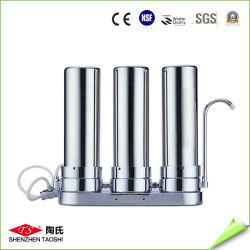 Table en trois étapes haut filtre purificateur d'eau comptoir