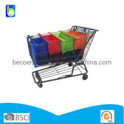 Supermercado de PP não tecido de carrinho de compras Saco Trolley Definido