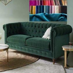 100 % poliéster patrón personalizado el tapizado de terciopelo de microfibra Textil de tela para el sofá de mobiliario y de cortina y cátedra o prenda de vestir