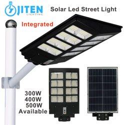 Todos integrados em um 500W Iluminação exterior do painel solar lâmpada economizadora de energia do sistema de luzes de estrada de Rua LED LED IP65 Enchente Jardim Pátio de parede Luz Park Street