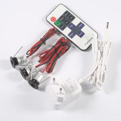 1W 12V Mini LED Spot Light Glühlampe mit EU Us-Stromwandler