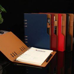 광고 선전 펜 홀더를 가진 주문 선물 고정되는 Eco 일기 루스리프 노트북