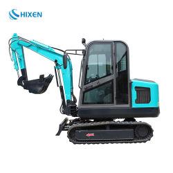 2,5 ton multifuncional Mini escavadeiras de Esteiras máquina de escavação com cabina fechada de luxo amplamente utilizados para a construção de engenharia de venda