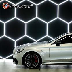 Auto Beschichtung und Auto Aufkleber Bay Design LED Beleuchtung für Kfz-Wartung Hexagonal Garage Werkstattausrüstung