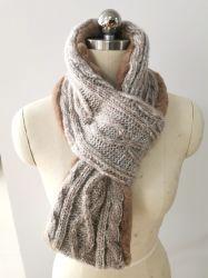 Form-Winter-Fälschungs-Pelz-strickender Schal der Frauen