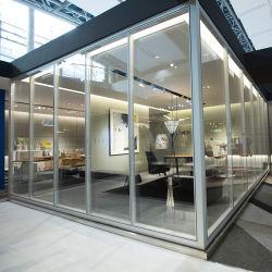 Estrutura de alumínio 2020 Office Partição de parede de vidro à prova de som