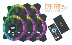 2020 Darkflash/Aigo CF11 PRO 5en1 Hola mince ordinateur RVB ventilateur du boîtier