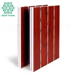 吸音力の材木MDFの木の溝の壁の防音のオフィス内部の装飾的な木溝がある音響パネル