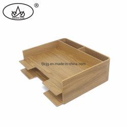 Archivo de madera de almacenamiento de documentos Carta de la oficina en casa papel A4 de la bandeja del organizador de escritorio
