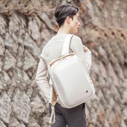 스타일리시한 유스 하드쉘 17인치 노트북 백팩 대용량 남성용 여행 백팩 화이트 백
