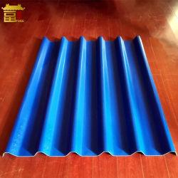 Colorida fábrica anticorrosión utiliza la hoja de techo ondulado de PVC