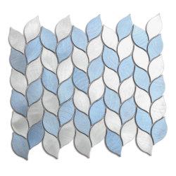 أسلوب جديدة زرقاء & لون فضّيّة ألومنيوم فسيفساء لأنّ [بكسبلش] زخرفة