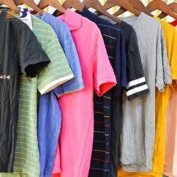 混合の夏は人のための綿 T シャツの服を使用した 女性の中古の衣類は 95% きれいになる