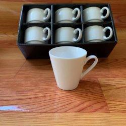 Оптовая торговля дешевые керамические чашки белого точной фарфора с рамкой цвета