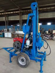Tiefen-beweglicher Schlussteil-hydraulische Wasser-Vertiefungs-Ölplattform-Kern-Bohrmaschine des Dieselmotor-200m