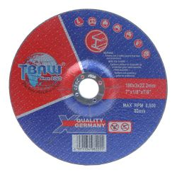 180X3X22mm disco tagliato di lucidatura abrasivo di taglio della lavorazione con utensili della falda del disco dell'OEM da 7 pollici e di taglio della mola T42 fatto in strumenti della Cina