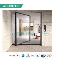 熱壊れ目の二重ガラスアルミニウムガラスピボットドア