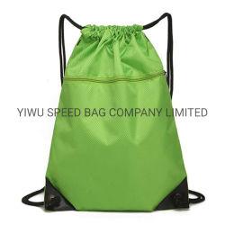 Coulisse Salle de Gym Sport en polyester sac à dos Sac cadeau pliable avec poches