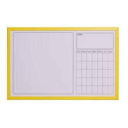 Wochen-Planer-Drucken-weißer Protokoll-Schreibens-Vorstand mit Holzrahmen-überzogenem gelbem Farbe Kurbelgehäuse-Belüftung
