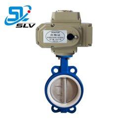 Dn65 интеллектуальное управление 24V 110V 220V 380 V электрический Wcb центральной линии по производству полупроводниковых пластин фтор деревьями двухстворчатый клапан