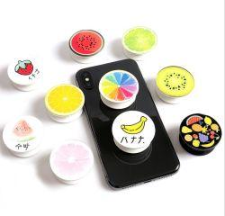 Comercio al por mayor colorido plástico retráctil de impresión personalizada Celular Porta anillo
