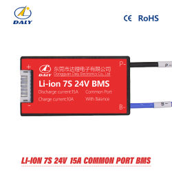 De waterdichte 7s 15A 25A 35A 45A 60A 24V IonenCellen van Li Lipo Nicomn van de Elektrische Last van de Raad BMS van de Bescherming van de Batterij van het Lithium met Saldo