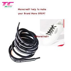 工場直売の靴のための習慣によって印刷されるレースの平らなコード