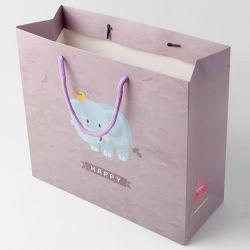 Kundenspezifische Weihnachtsgeschenk-Verpackungs-Beutel bereiteten Kunstdruckpapier für das Einkaufen auf