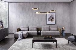 Muebles de salón moderno tela y cuero sofá