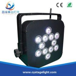 Club DJ Uplight Rgbwauv 12*15W 6 à 1 LED à plat sans fil par la lumière de la batterie rechargeable