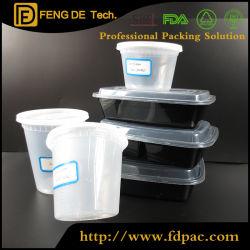 Commerce de gros grande petite rectangulaire micro-ondes en plastique transparent contenant des aliments à usage unique pour les fruits de conteneur rectangulaire de 2-compartiment personnalisé