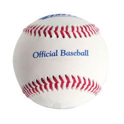 Match de ligue officielle Logo personnalisé pondérée de balles de baseball de la fourrure boules BLANCHES EN PVC En vrac cuir synthétique de la formation balle de baseball