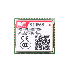Simcom de banda quádrupla GSM e GPRS combina o módulo de GNSS868 SIM