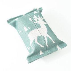 Jeu de draps en coton de tissu créatifs Salon Salle à manger Décoration sac de tissu tissu voiture Serviette Serviette de papier Box