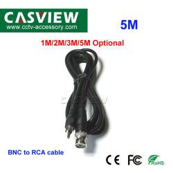 5m de câble BNC RCA sur le fil de la caméra CCTV Accessoires 75-5 RG59